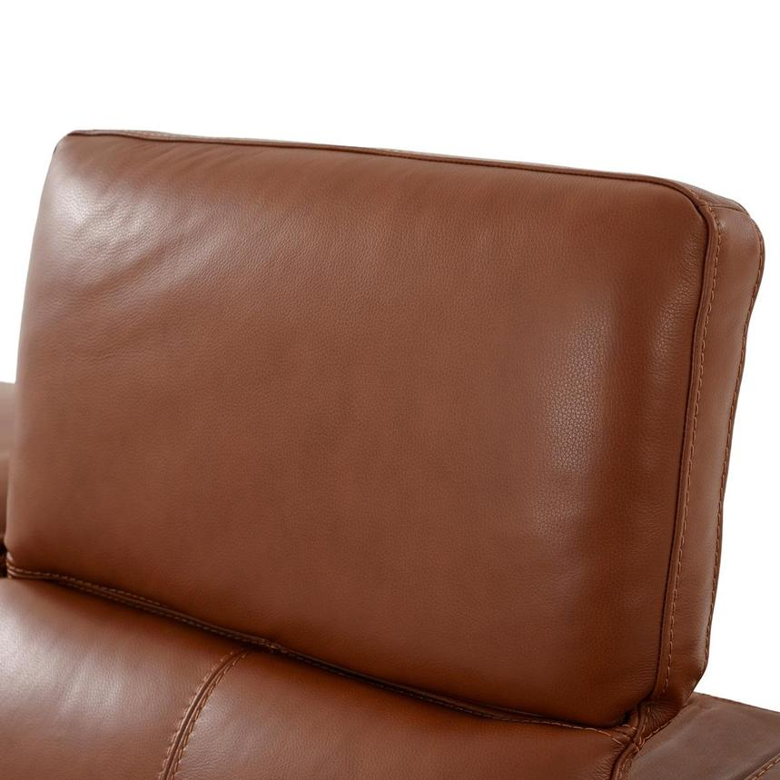 Katherine Tan Leather Power Reclining Loveseat  alternate image, 6 of 12 images.