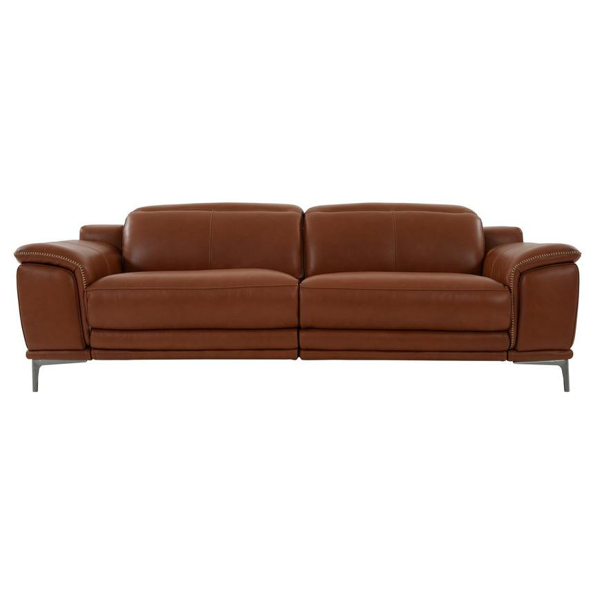 Katherine Tan Leather Power Reclining Sofa  main image, 1 of 12 images.