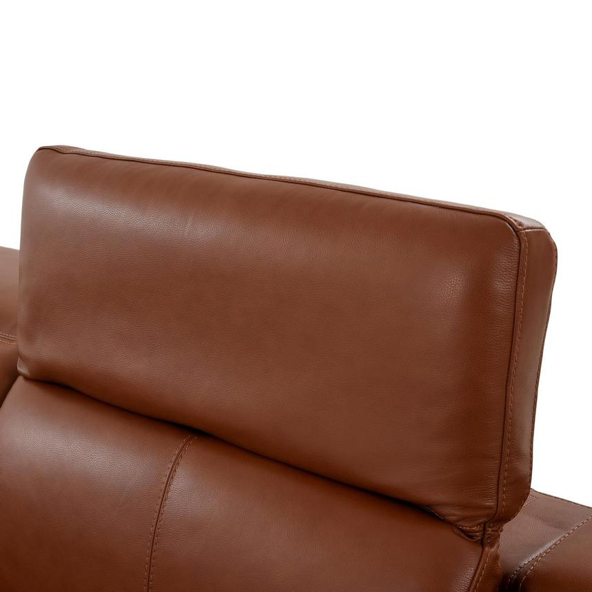 Katherine Tan Leather Power Reclining Sofa  alternate image, 6 of 12 images.
