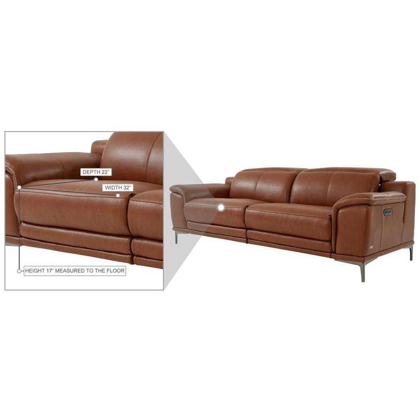 Katherine Tan Leather Power Reclining Sofa  alternate image, 11 of 12 images.