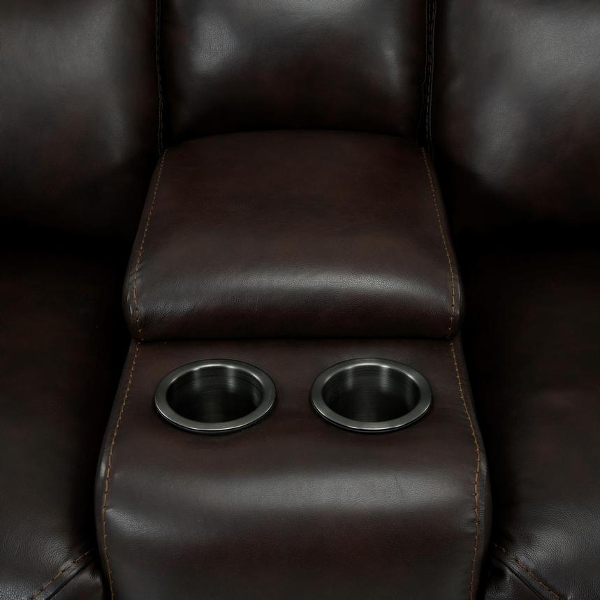 Bronco Leather Power Reclining Sofa w/Console  alternate image, 9 of 12 images.