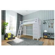 Haus White Twin Loft Bed w/Chest  alternate image, 2 of 13 images.