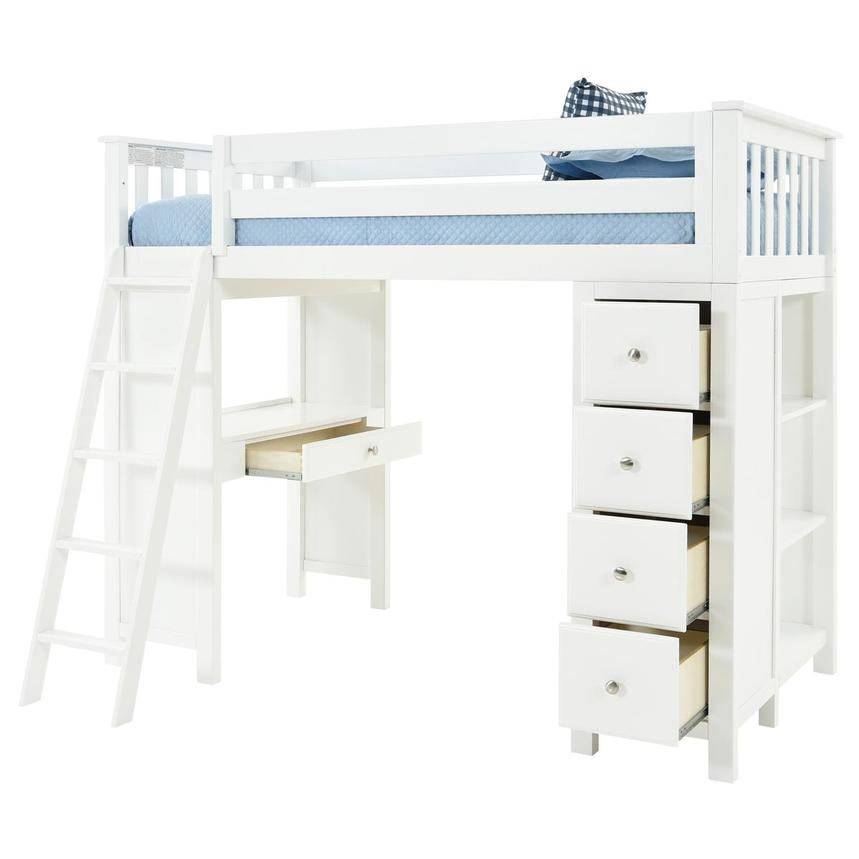 Haus White Twin Loft Bed w/Desk & Chest  alternate image, 5 of 15 images.