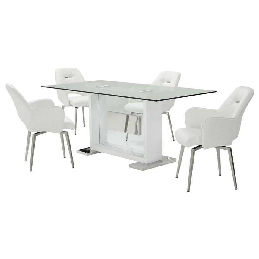 Finley White 5-Piece Dining Set  main image, 1 of 13 images.