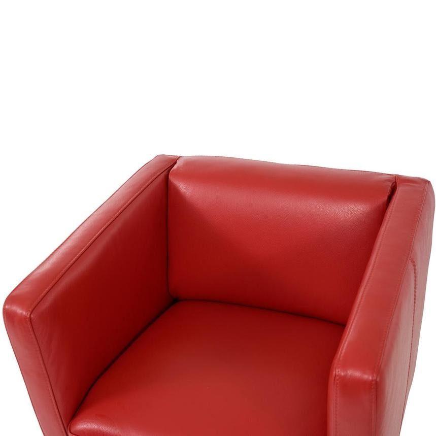 Cute Red Leather Swivel Chair  alternate image, 5 of 6 images.