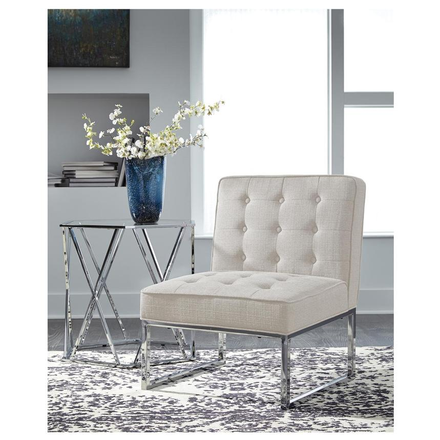 Rosedale White Accent Chair  alternate image, 2 of 2 images.