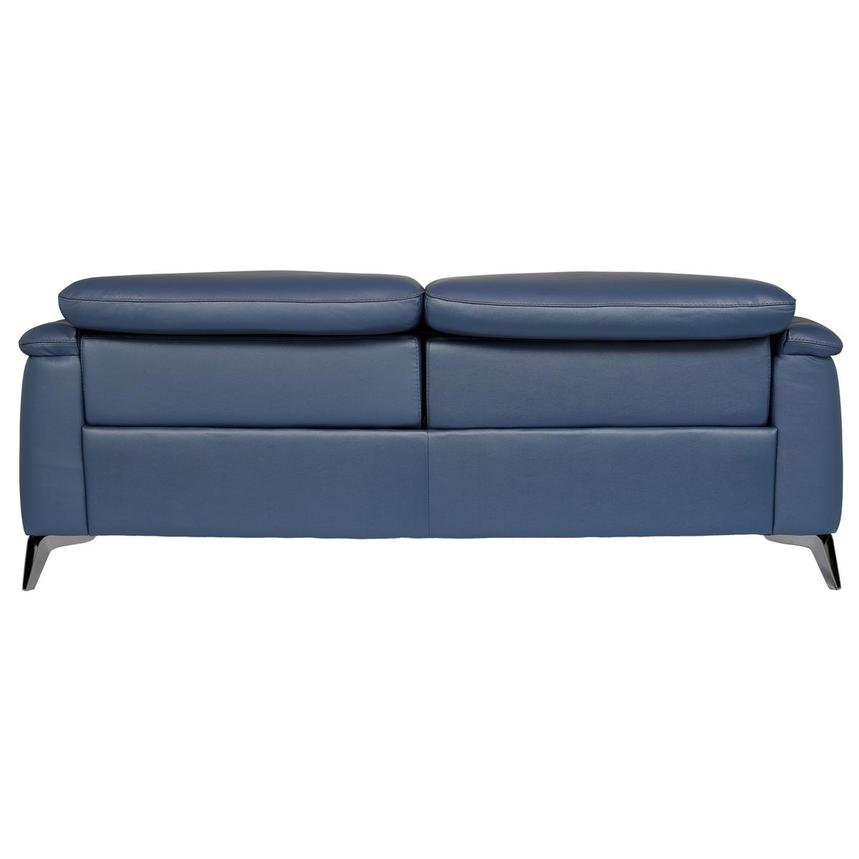 Anabel Blue Leather Power Reclining Sofa  alternate image, 5 of 10 images.