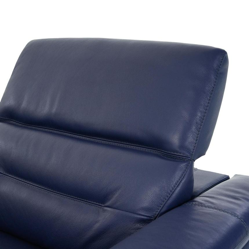 Anabel Blue Leather Power Reclining Sofa  alternate image, 6 of 12 images.