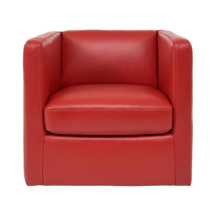 Cute Red Leather Swivel Chair  main image, 1 of 8 images.