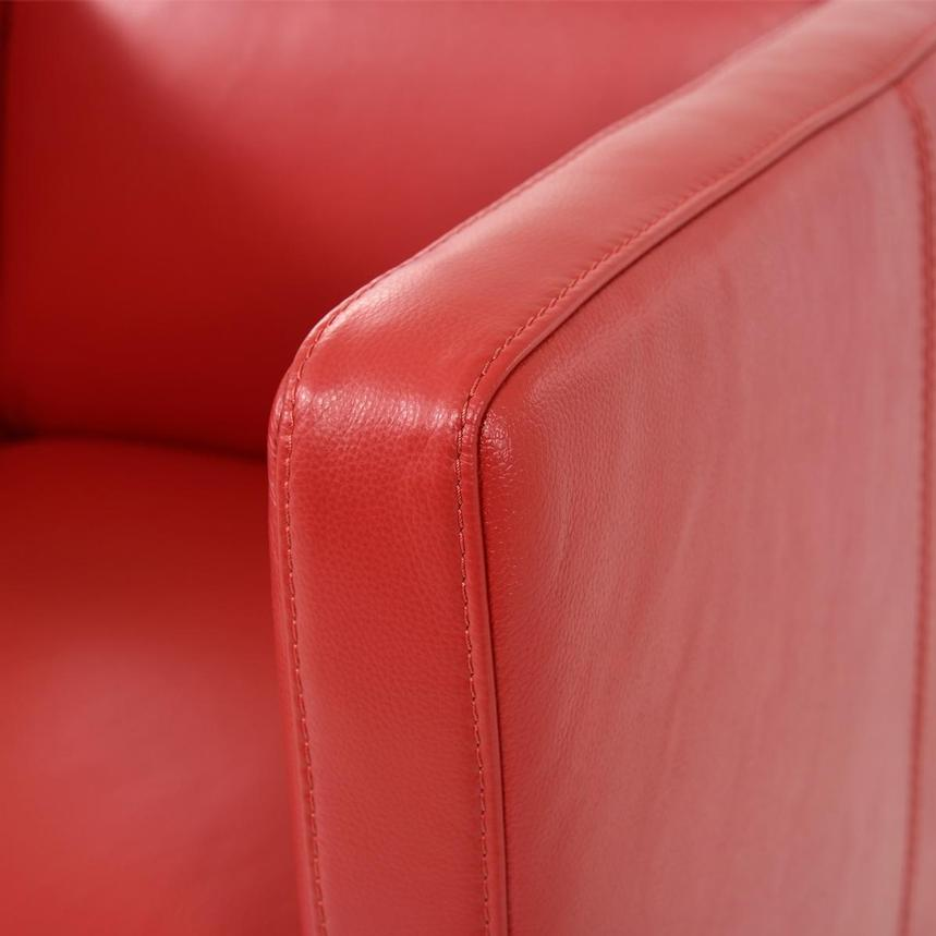 Cute Red Leather Swivel Chair  alternate image, 6 of 8 images.
