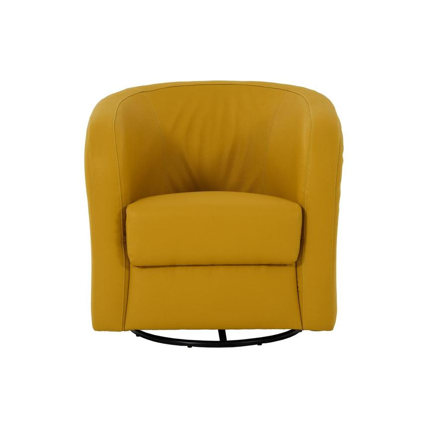 Delia Yellow Swivel Accent Chair  main image, 1 of 7 images.