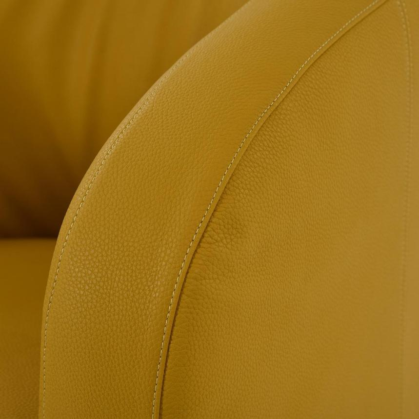 Delia Yellow Swivel Accent Chair  alternate image, 6 of 7 images.
