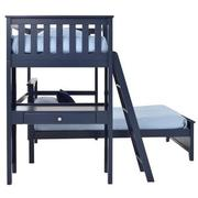 Haus Blue Twin Over Twin Bunk Bed w/Desk  alternate image, 5 of 10 images.