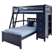 Haus Blue Twin Over Twin Bunk Bed w/Chest  main image, 1 of 9 images.