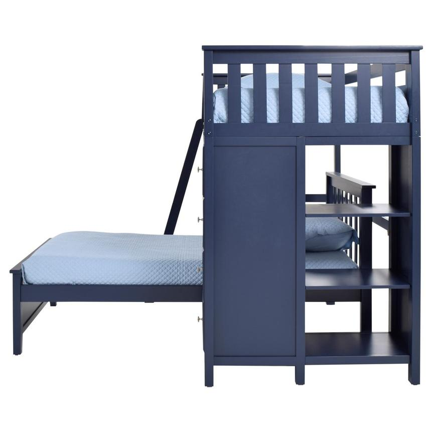 Haus Blue Twin Over Twin Bunk Bed w/Chest  alternate image, 5 of 9 images.