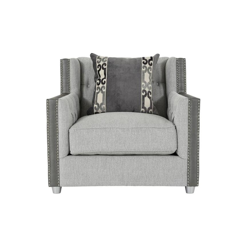 Sonia Gray Accent Chair  main image, 1 of 8 images.