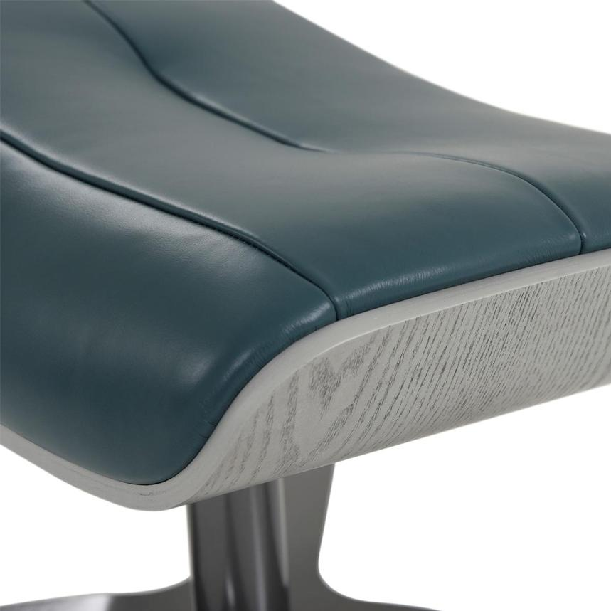 Enzo Green Leather Ottoman  alternate image, 5 of 6 images.