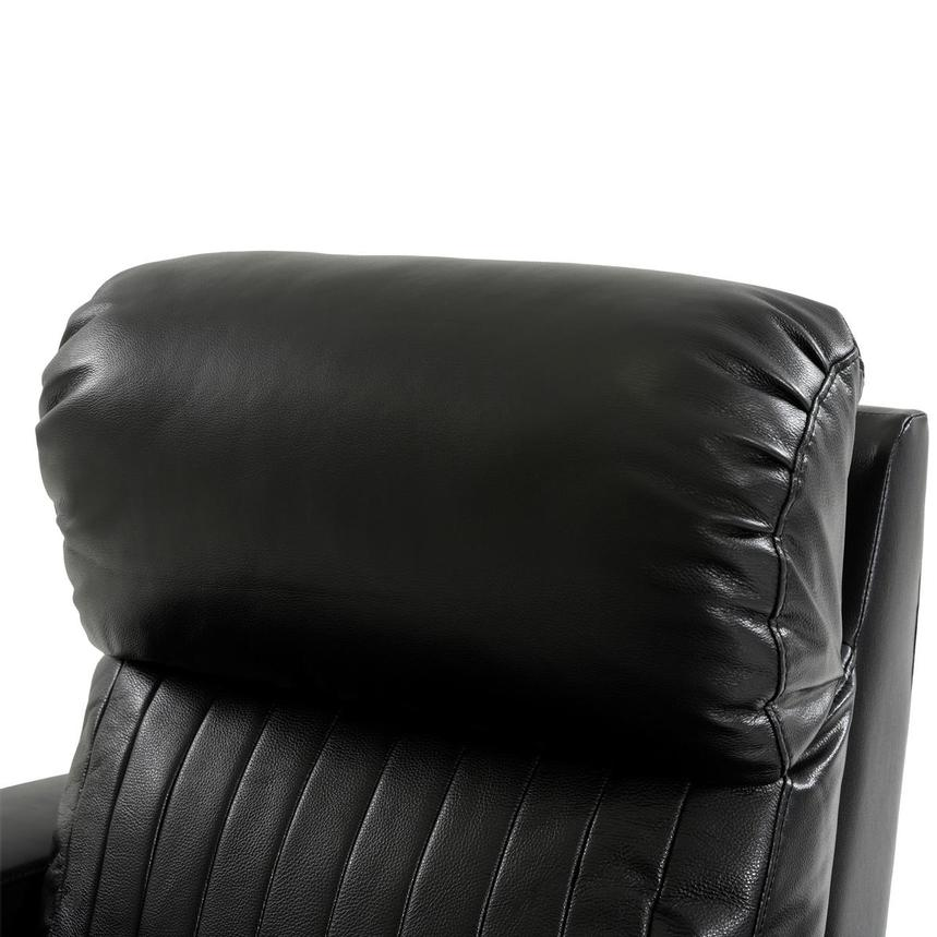 Obsidian Leather Power Recliner w/Massage & Heat  alternate image, 6 of 13 images.