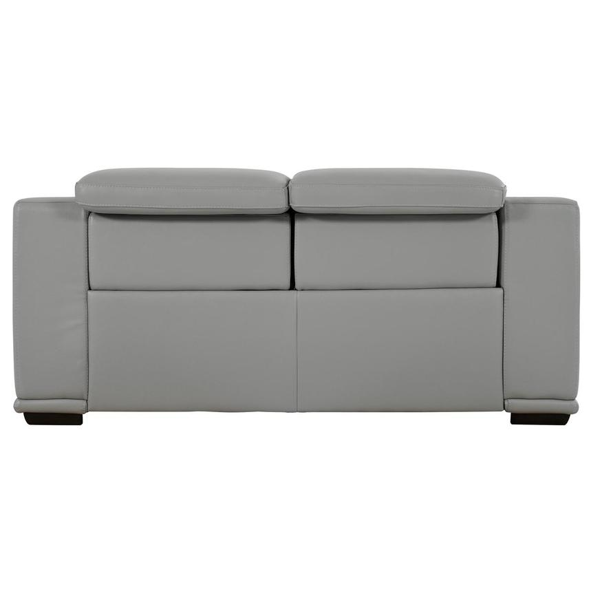 Davis 2.0 Light Gray Leather Power Reclining Loveseat  alternate image, 5 of 10 images.