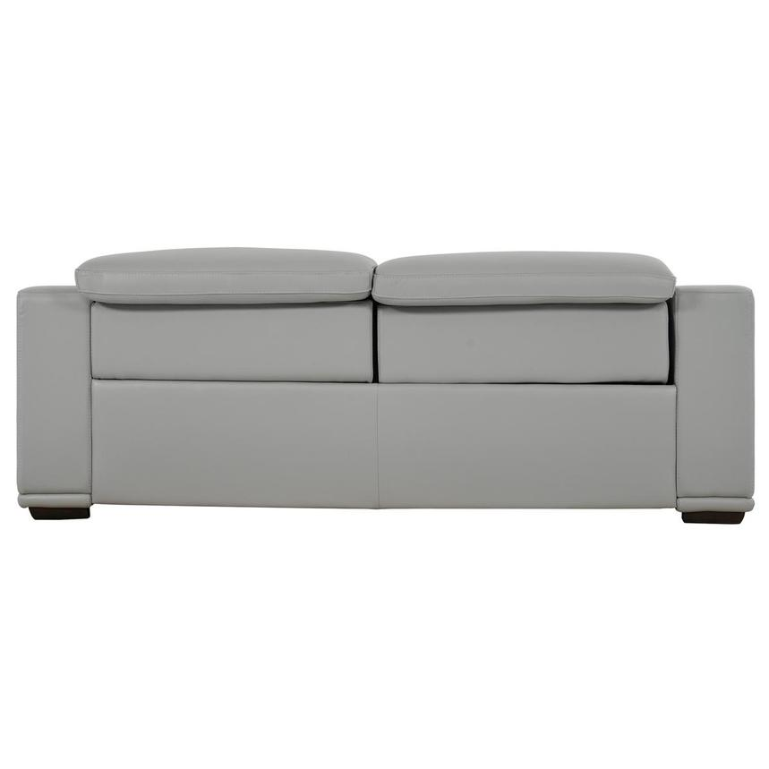 Davis 2.0 Light Gray Leather Power Reclining Sofa  alternate image, 5 of 10 images.
