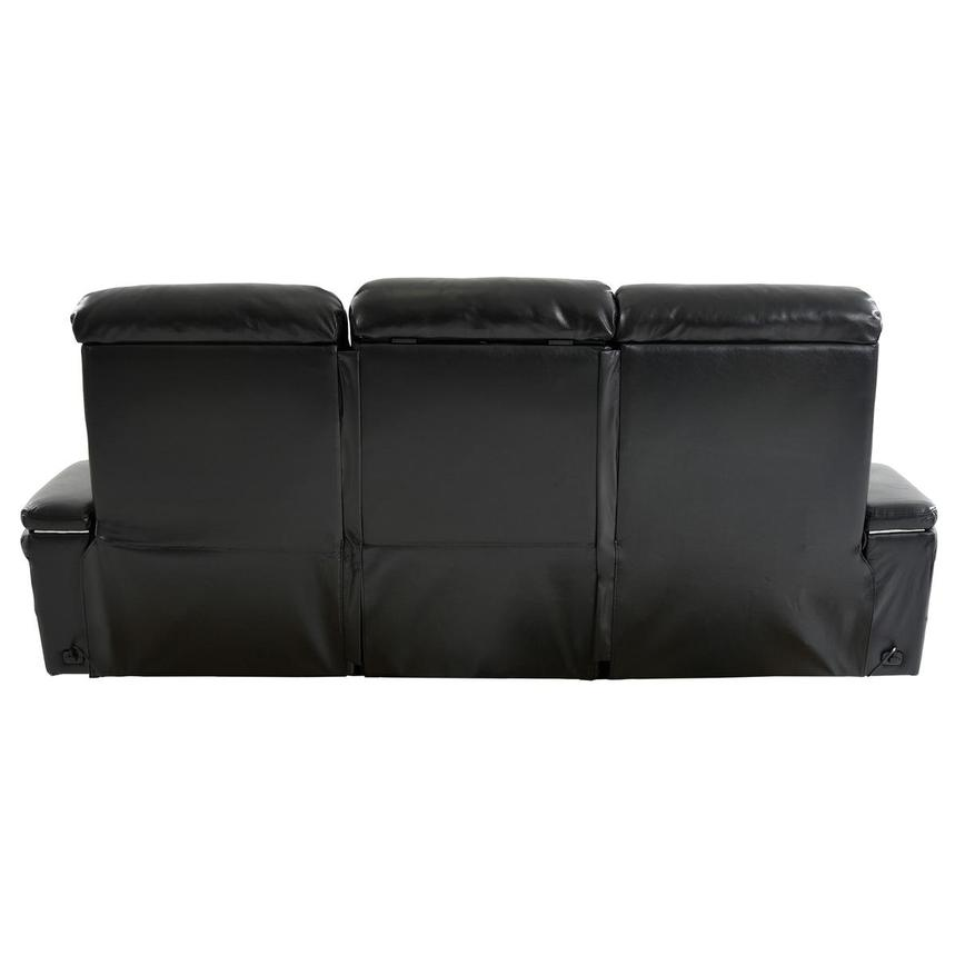 Obsidian Leather Power Reclining Sofa w/Massage & Heat  alternate image, 5 of 15 images.