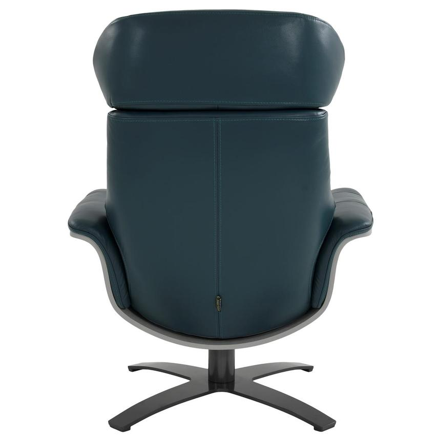 Enzo Green Leather Swivel Chair  alternate image, 6 of 13 images.