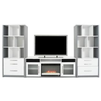 Ashford Wall Unit w/Faux Fireplace