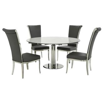 Tami Faux Mable/Joy Gray 5-Piece Dining Set