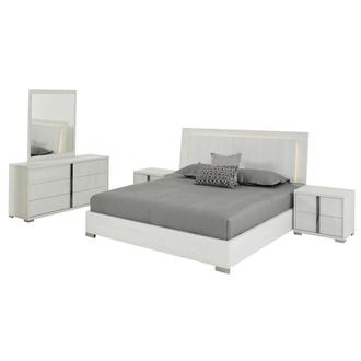 Tivo White 5-Piece King Bedroom Set Made in Italy