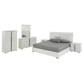 Tivo White 6-Piece Queen Bedroom Set