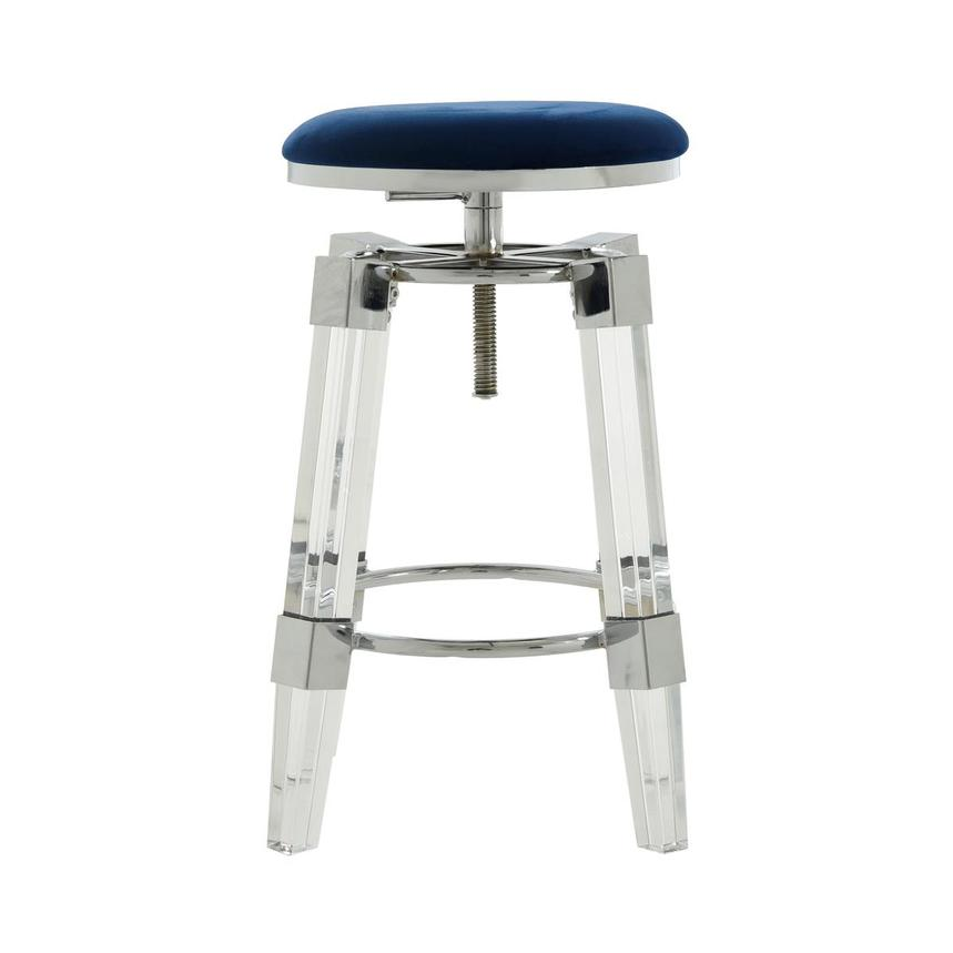 Julie Blue Adjustable Stool  main image, 1 of 3 images.