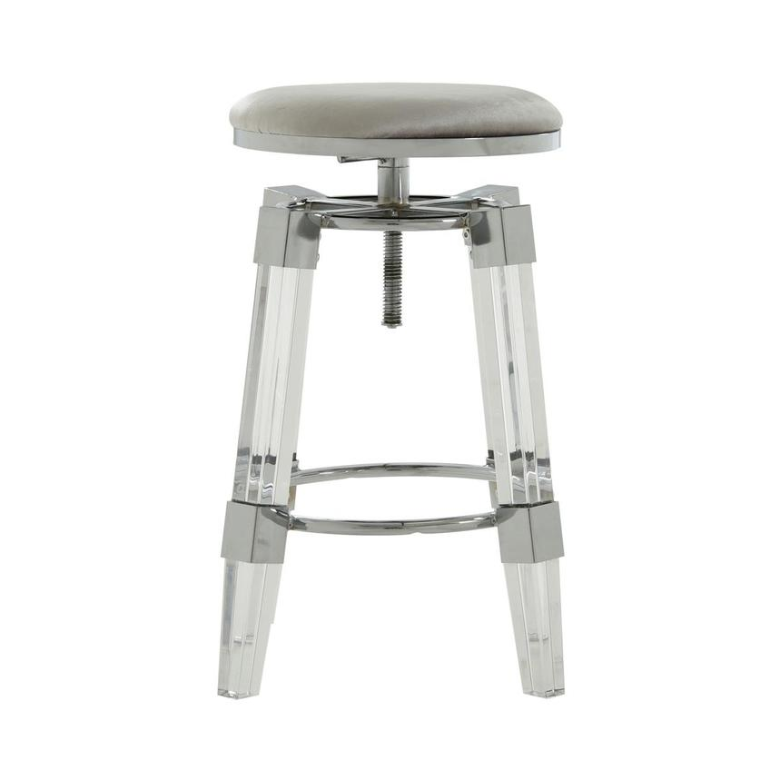 Julie Silver Adjustable Stool  main image, 1 of 3 images.