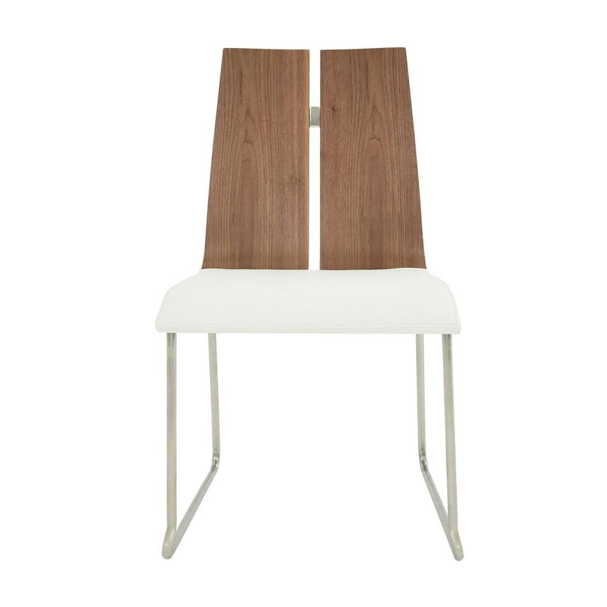 Valencia Walnut/White Side Chair  main image, 1 of 6 images.
