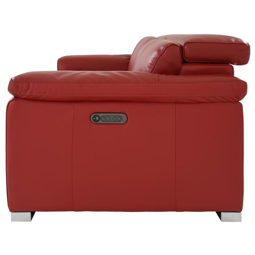 Charlie Red Leather Power Reclining Loveseat  alternate image, 5 of 12 images.