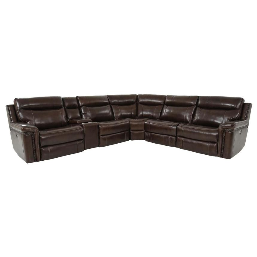 Billy Joe Leather Power Reclining Sectional  main image, 1 of 12 images.