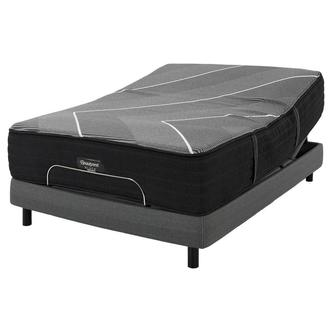 BRB-X-Class Hybrid Firm Queen Mattress w/Motion Perfect® IV Powered Base by Serta®