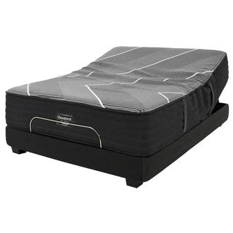 BRB-X-Class Hybrid Plush Queen Mattress w/Beautyrest® Black Luxury Powered Base by Simmons