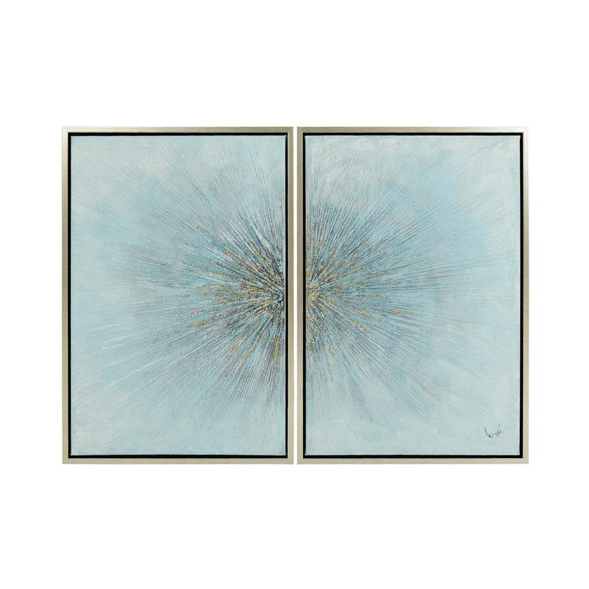 Eclater Blue Set of 2 Canvas Wall Art  main image, 1 of 4 images.