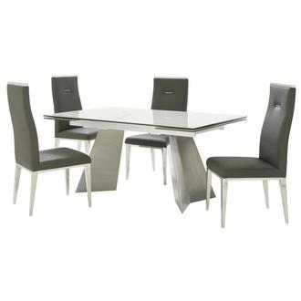 Imperium/Hyde I Gray 5-Piece Formal Dining Set