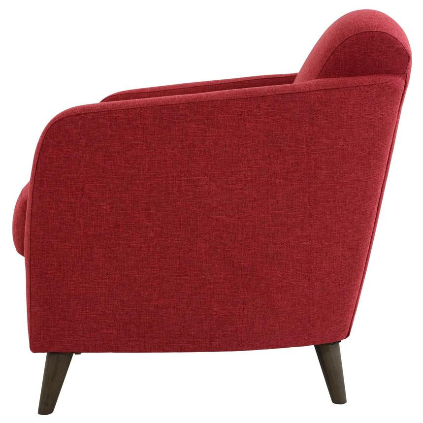 Haisley Red Accent Chair w/Ottoman  alternate image, 5 of 15 images.