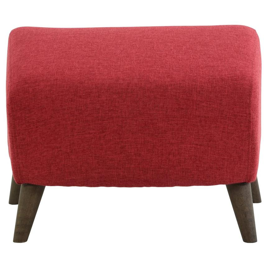 Haisley Red Accent Chair w/Ottoman  alternate image, 10 of 15 images.