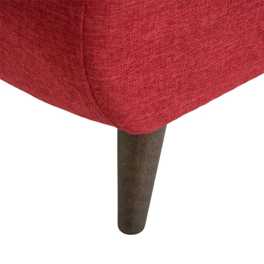Haisley Red Accent Chair w/Ottoman  alternate image, 15 of 15 images.