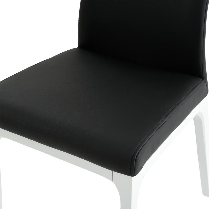 Valencia White/Black Leather Side Chair  alternate image, 6 of 6 images.
