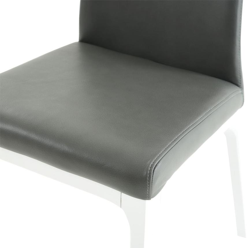 Valencia White/Gray Leather Side Chair  alternate image, 6 of 6 images.