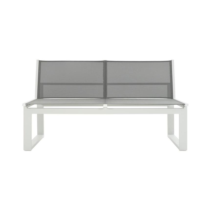 Alu'/Sling Gray Armless Loveseat  main image, 1 of 7 images.