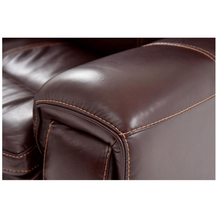 Napa Burgundy Leather Power Reclining Sectional w/Left Chaise  alternate image, 5 of 8 images.