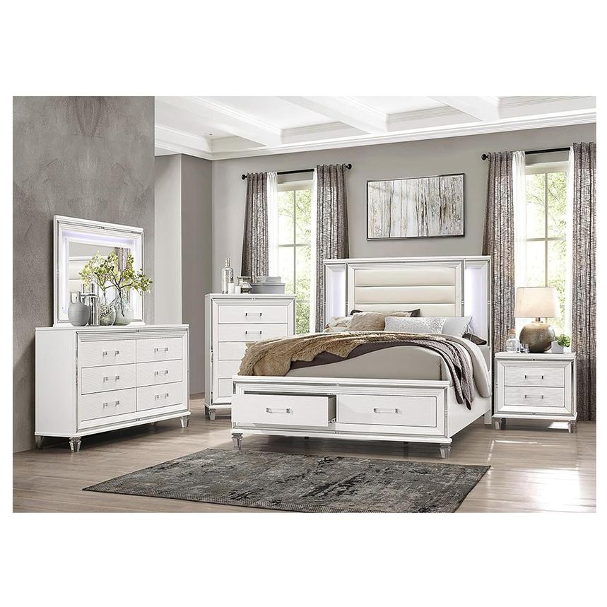 Stephanie White 4-Piece Queen Bedroom Set  alternate image, 2 of 6 images.