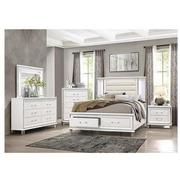 Stephanie White King Storage Bed  alternate image, 2 of 9 images.