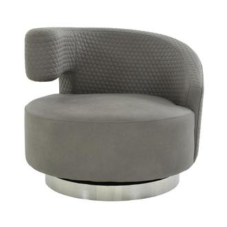 Okru II Light Gray Swivel Chair