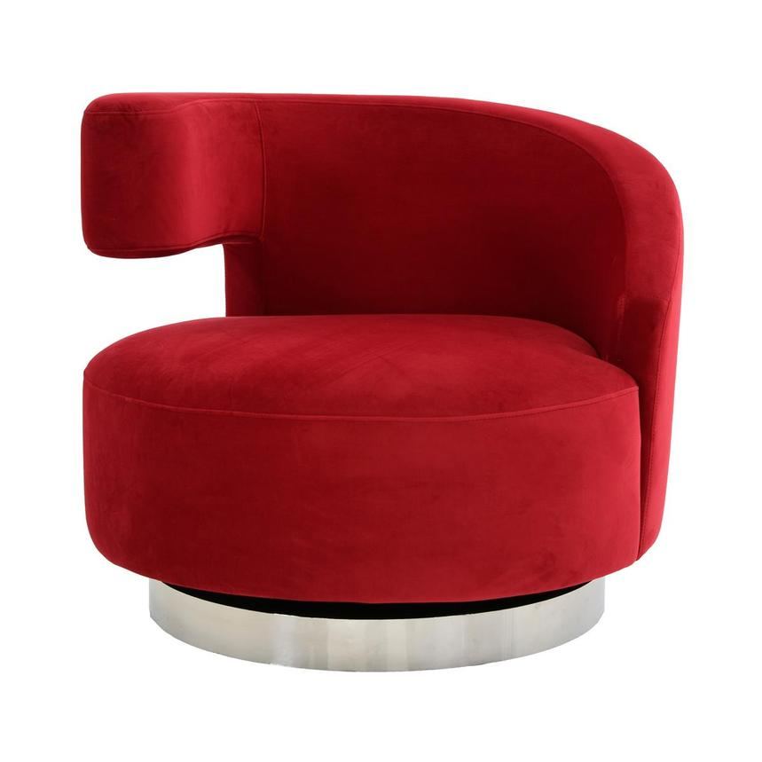 Okru Red Swivel Chair  main image, 1 of 7 images.